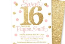 Sweet 16 / Sweet 16 party ideas, Sweet 16 invitations, Sweet 16 decorations
