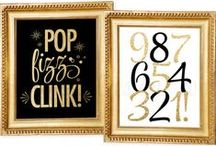New Year's Eve Party / New Year's Eve Party Ideas - decorations, party printables