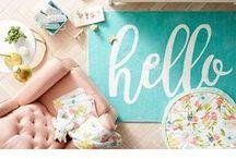 Floral Nursery Crafts & Decor / floral nursery, large format florals, floral crafts, newborn baby, nursery decor, nursery crafts, DIY