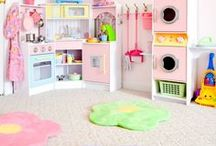 Playroom Inspiration / Playroom ideas, play spaces for kids, easy DIY projects, playroom storage, playroom organization