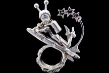 Sculpturings / Limited Edition, Cast .925 Sterling Silver. Rebecca Rose.