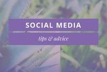 SOCIAL MEDIA TIPS + ADVICE / Social Media tips, advice & inspiration for small business