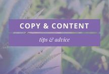 COPY & CONTENT IDEAS FOR SMALL BUSINESS / Copy, content, copy ideas, copy writing, content ideas, content tips, blogging, blog, content marketing, writing for business, sales page, blog content, sales copy, email funnel, email marketing, writing