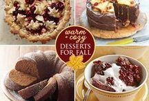 Fall Cakes + Sweet Desserts / Cake Recipes and Pretty Desserts for the Fall Season