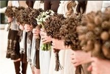 Winter Wedding Inspiration / From pine cones to snow - winter weddings and snowy wedding photos