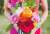 Wedding Flowers + Non-Floral Bouquets and Centerpieces / Pretty Wedding Flowers and Bouquets - real blooms and faux floral arrangements