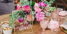 Table Settings / Stunning table displays for weddings and parties including fancy tables, easy DIY ideas and even centerpieces. // wedding centerpieces, wedding table decor, reception tables, tablescapes, tablesettings