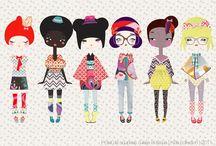 Fashion illustration kid-junior