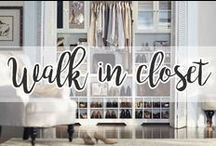 HOME // Walk in closet / I like my money where I can see it - hanging in my closet.