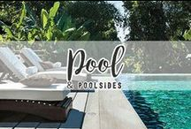 "HOME // Pool & Poolsides / Welcome to our ""ool""! Notice there is no ""P"" in it. Let's keep it that way!"