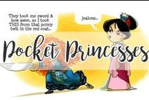 Pocket Princesses / The flower that blooms in adversity is the most rare and beautiful of all.   -Mulan