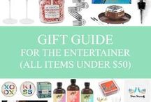 gift guide: for the entertainer. / they invite you over for dinners weekly, so it's about time you give them something in return.  all gifts under $50. / by Mary-Katherine Minnis
