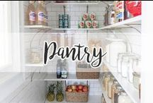 HOME // Pantry / Nice storage ideas!