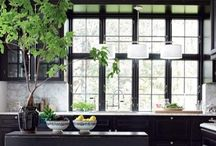Kitchens I Could Cook In / Love back and white kitchens / by Shannon Terry Nembach