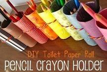 CRAFTS - Cardboard Tube Crafts / Craft projects using toilet paper and paper towel tubes. / by D Stepp | The Shady Porch & Craft-D-ness
