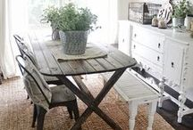 Indoor and Outdoor Dining Spaces / by Creating a Life