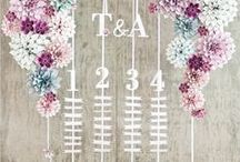 Place Cards & Seating Charts / Seating chart and place card ideas for wedding receptions. / by Smarty Had A Party
