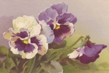 Vintage Pansies / Please pin from this board with consideration. It takes me a long time to put these together.