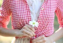 Gingham Lovelies / Please pin from this board with consideration. It takes a long time to put these together.