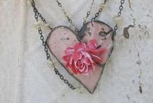 Pink and Grey Love / Please pin with consideration. It takes a long time to put these together.