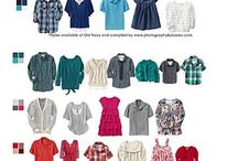 Photo shoots - what to wear / What to wear for photo shoots. Colors and clothing ideas / by Angie B