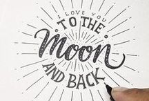 Typography / Beautiful font combinations and hand lettering