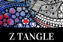 Z Tangle / Artist Nada Meeks hand drawn ZTANGLE COLLECTION. More online @ http://ztangle.blogspot.com