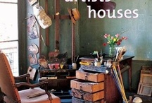 AN ARTIST'S RESIDENCE / A bookishly romantic cottage with a bohemian Bloomsbury ambiance...  / by Karen Haskett