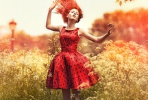 lady in red / lady in red is dancing with me, cheek to cheek / by Tonya Lwowski