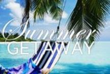 Summer Getaways / Be inspired by our collection of coastal cool Summer Getaways at alluxia.com