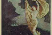 """NOUVEAU & DECO NUDES & NYMPHS / and Diaphanous dancers in art,  objects, paintings & """"pictorialism"""" photography / by Karen Haskett"""