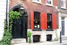 Dennis Severs' House: 18 Folgate Street - Spitalfields London / In each room, you will find evidence that they just left, eggs in a mixing bowl on the kitchen table, an overturned chair in the drawing room, a cup of tea on the dressing table, a glass of wine on the dining table, a rumpled bed in the attic, and so it goes on.