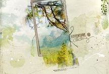 Anna Aspnes Layouts / Scrapbook pages using designs by Anna Aspnes / by Judith Webster