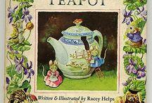 COZY TEA TIME Inspirations / Quaint, cozy, vintage cottage ware China, tins, textiles other pretty tea time inspirations....