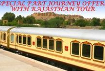 Palace on Wheels / The Palace on wheels is rated as one of the top ten luxury train journeys in the world. It offers you a heart-rending trip to the splendid forts and palaces of Rajasthan in just seven days. Also discover the royal history of Taj Mahal in Agra. The journey to the hinterland of the desert starts every Wednesday evening at 1800 hrs from Delhi and ends on the following Wednesday early in the morning at 0730 hrs in the season.