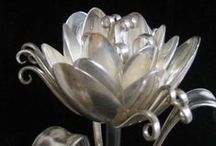 AMAZING SILVER, Silver Jewellry & Repurposed Silverware. /  SILVER is a beautiful material, so malleable and versatile, UPCYCLED and REPURPOSED silverware, vajilla de plata reciclada, argenterie transformée .  Feel welcome  to invite your trusted friends to this board! Let´s be awesome!! Thank you, Rose.