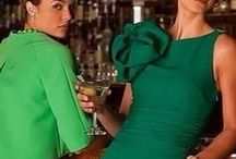PARTY in STYLE, cocktails and fancy dresses in Blue & green