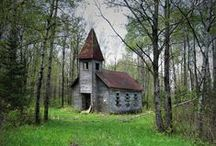 Old Churches and Barns