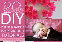 Photography Backdrops & Props / DIY backdrops and backdrop ideas along with props for photography