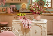 Painted Kitchens / kitchens with painted shelves and cabinets / by Cassandra Rose-Barnett