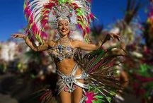 GRAN CANARIA CARNIVAL / Come and join in the fun on the biggest party on the island CARNAVAL!  Costume ideas, parade photos, carnival Queens and photos from Gran Canaria Carnival events!