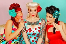 Rockabilly / 50's hair and make up, lots of tattoo's and tight clothes and petticoats under dresses with high shoes! / by Cassandra Rose-Barnett