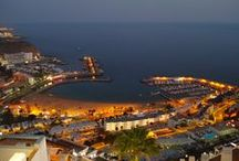 Gran Canaria at Night / When the sun goes down - the island of Gran Canaria at night.