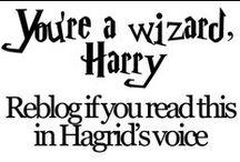You're a wizard, Harry. / by Kellie Strupp