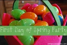 Celebrate Spring / Love to celebrate the seasons. Spring Party anyone?? Have a party and enjoy all the fun of the season.  I believe spring should be full of bunnies, chicks, flowers etc. Leaving Easter for the Lamb of God and all the Resurrection means.