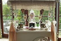 Candy Cart / Pink Bon Bons candy cart for hire