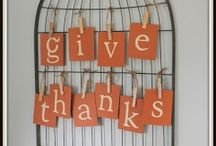 Celebrate Gratefulness / Making gratefulness a theme for the whole fall and . . . on the day we gather together . . .