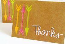 Cards: Thanks / by Julia @ It's Always Ruetten