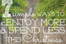 Celebrate CHRISTmas Organized / Simplify by Being Organized I this busy season of the year.