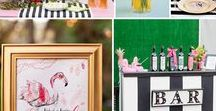 Flamingo themed party / Flamingos are so on trend at the moment and we love adding them as an accent to a retro party.  Perfect for any type of occasion, mix them up with black and white stripes or spots.  Here are some of our favourite ideas for your next party, which element do you like best?